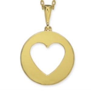 Kate Spade Heart Pendent Necklace-NWT-Gold